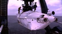 Oceanic Technology - Alvin Submersible Launch With Crane