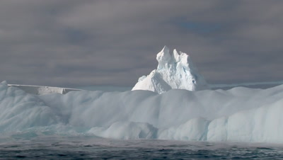 View from Zodiac on Iceberg breathing in the Ross sea, Antarctica
