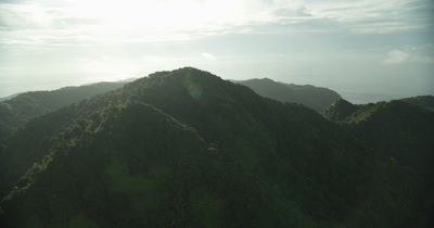 Circling around mountain top of Cocos Island