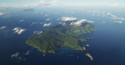 Extreme wide of Cocos Island