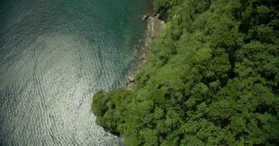 bird's eye view of coast of island