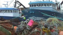 Trawlers And Gear On Dock, Alaska Trawl Fisheries - Dutch Harbor, Alaska, Unalaska