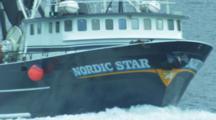 Trawler on it's way back to harbor, Dutch Harbor Alaska