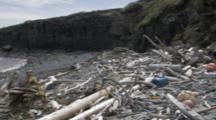 Marine Debris And Plastic Trash On Remote Alaska Beaches