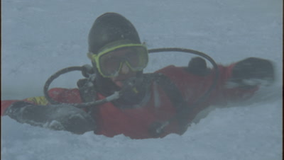 Ice Diving Stock Footage