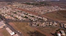 Aerial Over Residential  Area Of Cabo San Lucas, Mexico