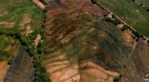 Aerial Over Mexico Farm Land