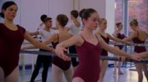 Ballet Students In Studio
