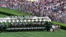 Horses In Starting Gate, Crowds Watch, Churchhill Downs