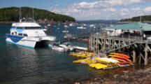 Ferry, Other Boats On Dock