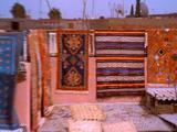 Rooftops In Marrakech, Pan To Street Scene