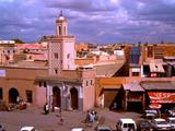 Panoramic View Of Market And City Of Marrakech