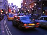 Blurred Time Lapse London Street