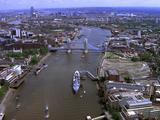 Aerial Over River Thames And Tower Bridge
