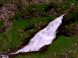 Waterfall Cascading Down Hillside