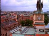 Overlook Street And Buildings Of Prague