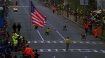 Wheelchair Athlete At Marathon