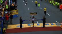Runner Finishing Marathon