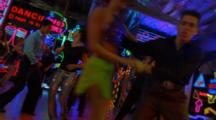 Salsa Dancers And Neon Lights