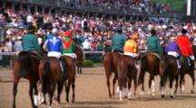 Horses Led Onto The Track, Churchhill Downs, Kentucky Derby