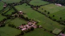 Aerial Over English Countryside