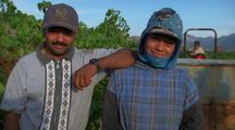 Vineyard Workers Pose.