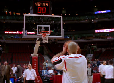 Basketball Player Throws Freethrow