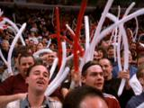 Fans Wave Balloons At Game