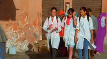 Three Girls Walk, Morocco