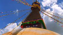 A Buddhist Temple, Stupa, In Nepal