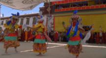 Traditional Dancers In The Himalayas