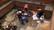 Women Washing Clothes In Nepal