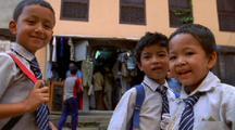 Children Smiling In Nepal