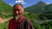Himalayan Man In A Valley