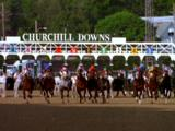 Horses Leave Gate To Start Race At At Kentucky Derby