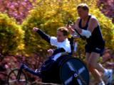 Father Pushes Son In Wheelchair In Marathon