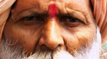 Old Hindu Man Poses
