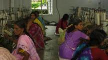 Women Work In Textile Factory