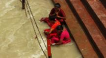 Hindu Women Take Ritual Bath In Ganges River