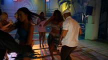 Salsa Dancers In Club At Night