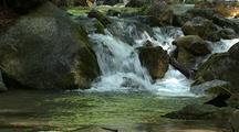Waterfall, Creek And Boulders, Big Sur