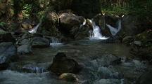 Waterfalls Empty Into Creek, Big Sur