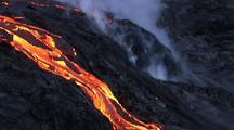 Aerial Of Volcanic Eruption, Big Island Hawaii