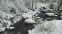 Small Stream In Snow