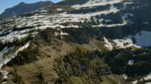 Aerial Of High Mountain Frozen Lake