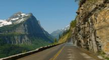 POV Driving Going-To-The-Sun Road, Glacier National Park