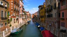 Colorful Buildings Line A Venice Canal
