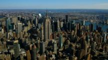 Aerial Of The Manhattan Skyline