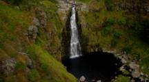 Aerial Waialae Falls On Kauai