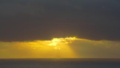 3D Sunset Footage